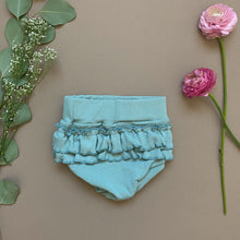 Load image into Gallery viewer, Seafoam Ruffle Bloomers