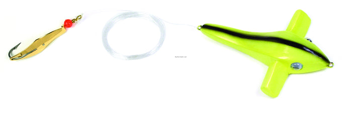 Clarkspoon BRC-0RBMG Bird Rig - Chartreuse Bird, #0 Gold Clarkspoon, 2/0 Hook, 2.5