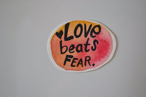 Love Beats Fear Magnet