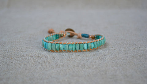 Octagon Turquoise Single Wrap