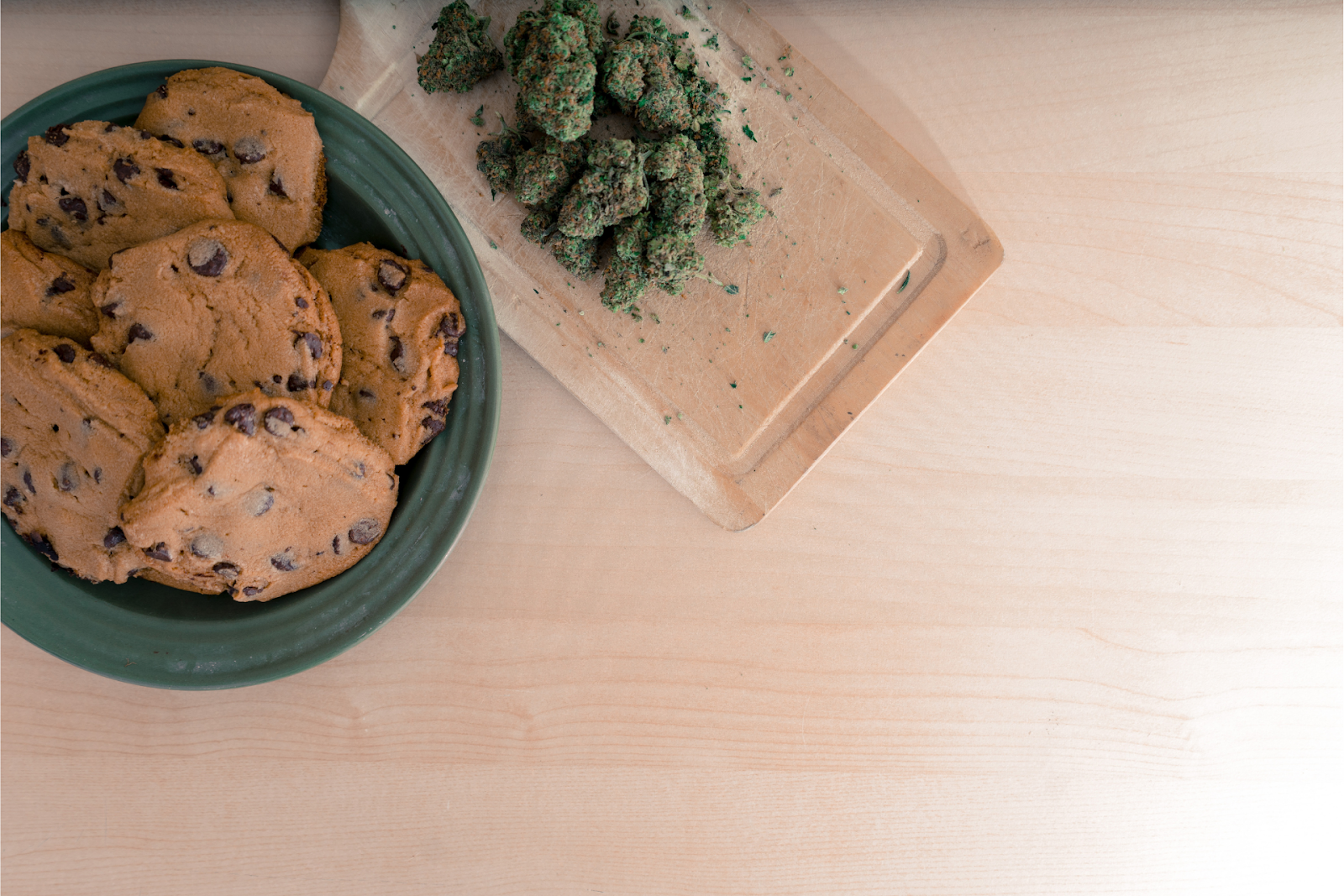 Chocolate chip cookies made from cannabis