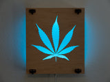 Lunaglow Cannabis Lightsculpture - RGB LEDs with RF Remote Control