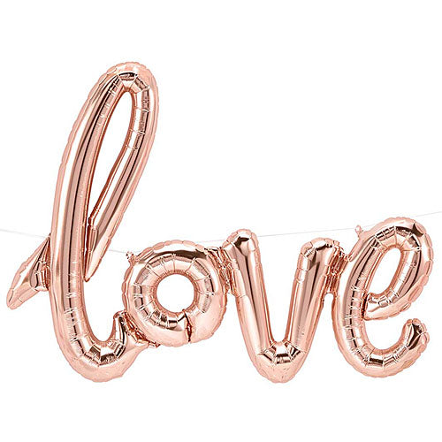 "Balloon Script ""Love"" Rose Gold 46"""