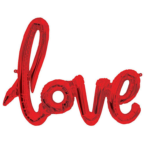 "Balloon Script ""Love"" Red 46"""