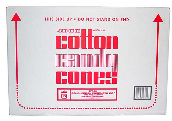 Cotton Candy Cones Plain Case Of 4,000
