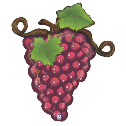 Linky Red Grapes Shape 31""