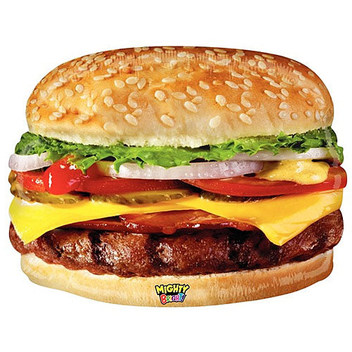 Mighty Cheese Burger Shape 31""