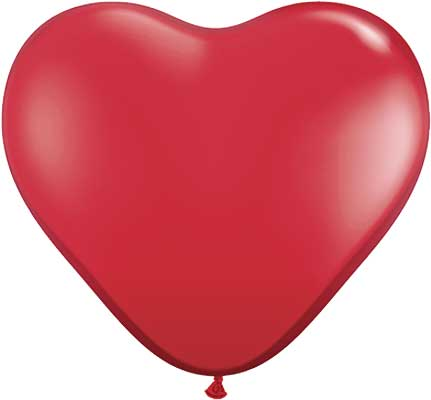 Ruby Red Hearts 36""