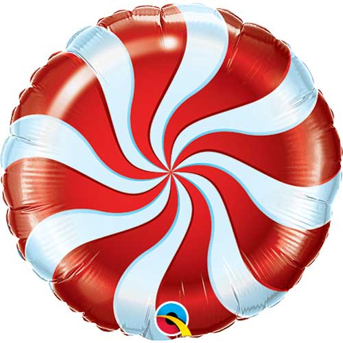 Air Fill Red Candy Swirl 9""