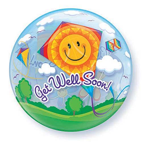 Get Well Soon Kites Bubble 22in.