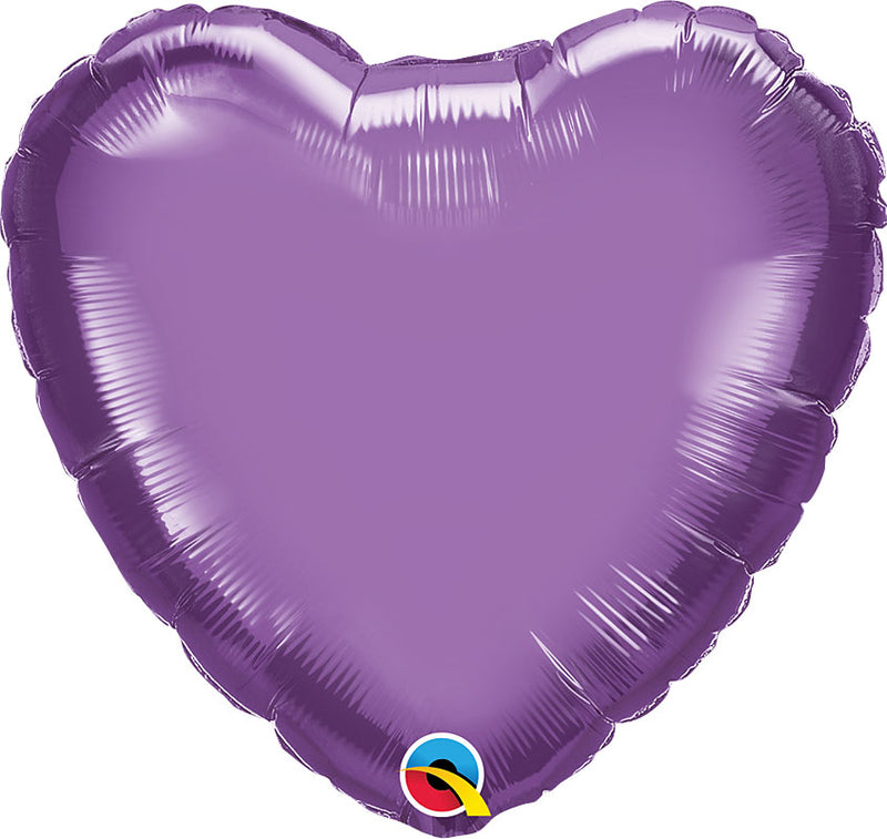 Chrome Purple Foil Heart 18""