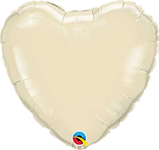 Pearl Ivory Foil Heart