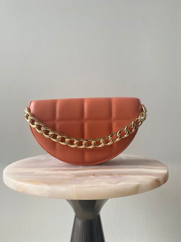 Luna Clutch in Tangerine