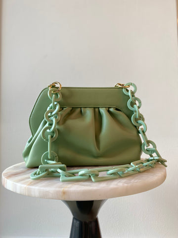 Mint Green Chain Pouch