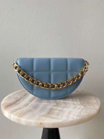 Luna Clutch in Baby Blue