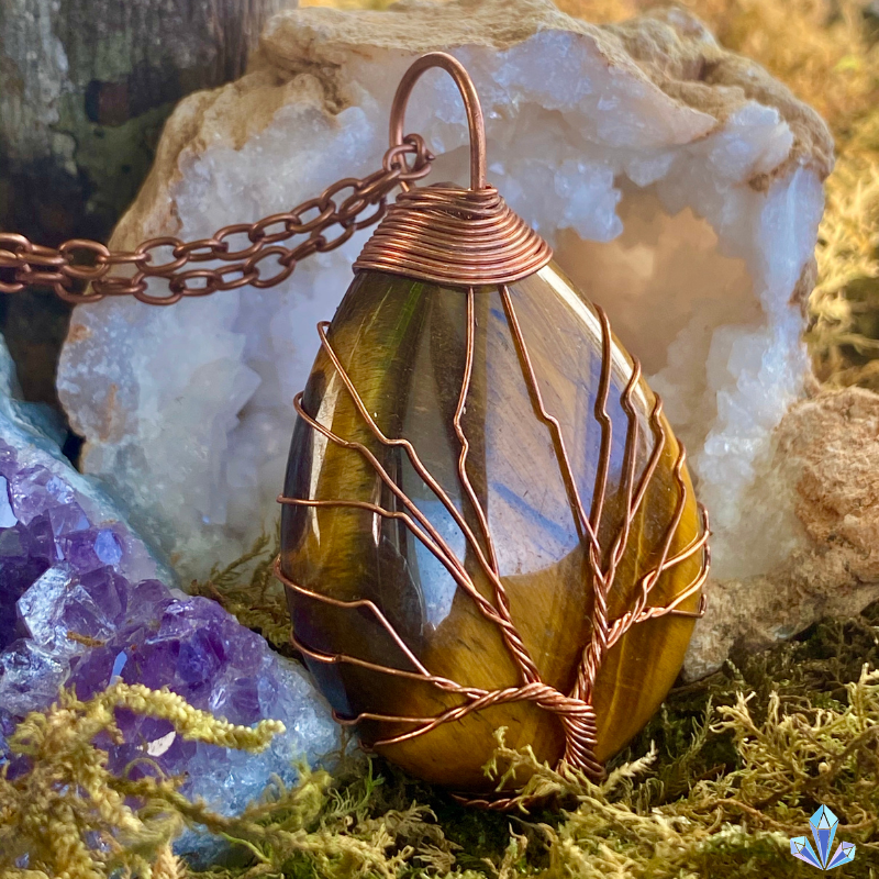 Natural Tiger Eye - Tree of Life Collection