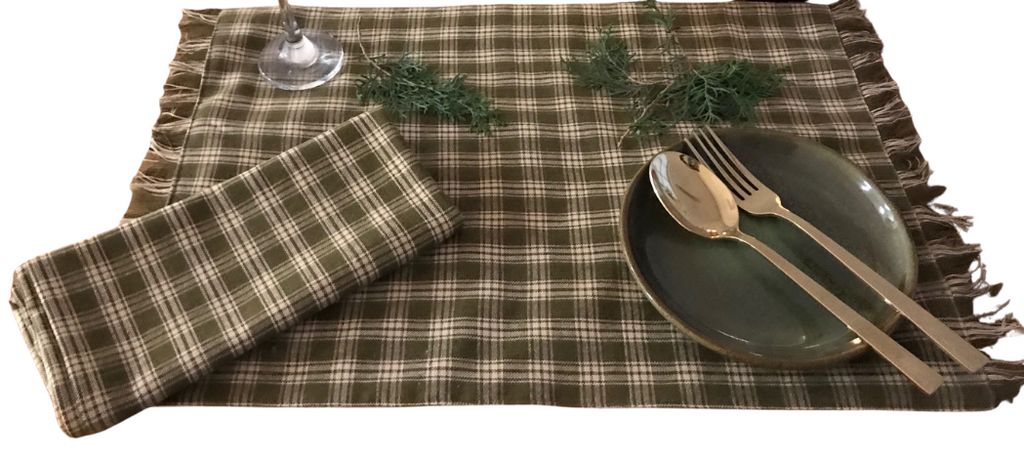 Green Check Placemats (Set Of 4)