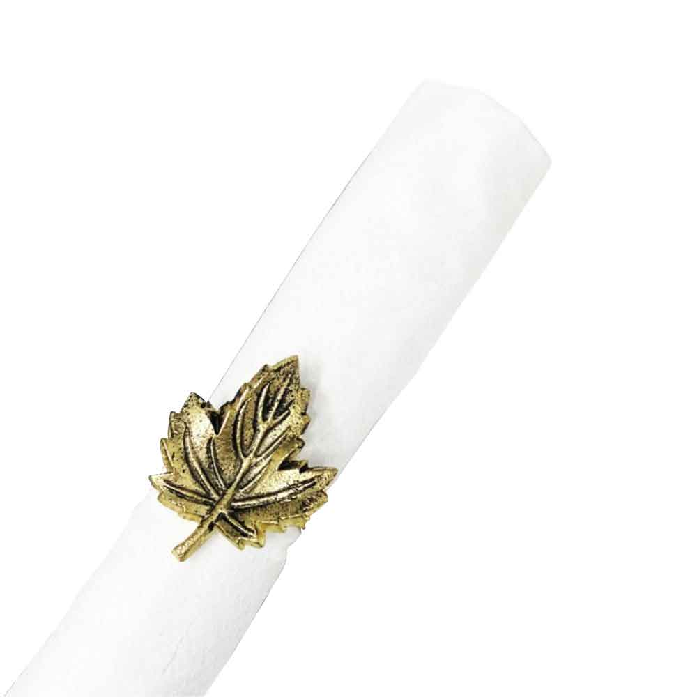 Small Leaf Napking Rings (Set of 4)