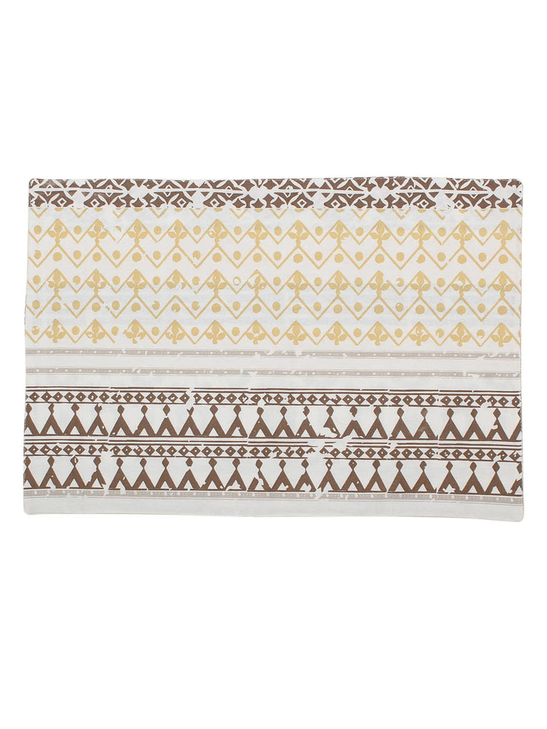 Valleri Cotton Set Of 2 Placemat-Beige