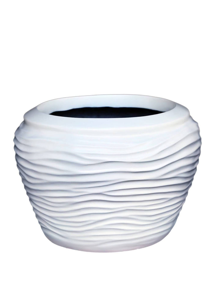 Striped Apple Planter 10.5""