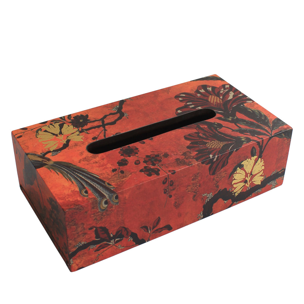 Orange Gulbagh Collection Tissue Box