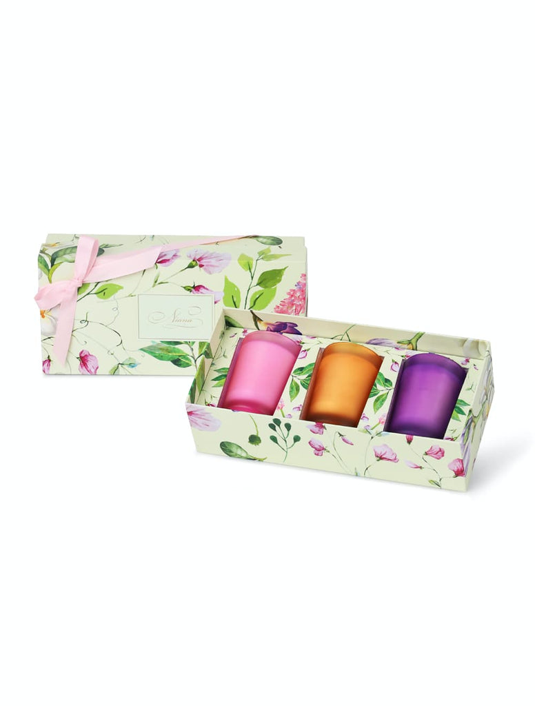Spring Summer Candle Trio - Hyacinth, Orange Flower, Sweet Pea