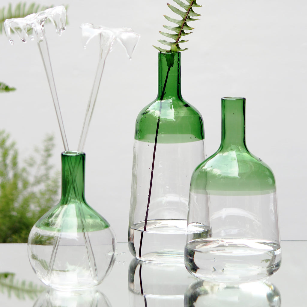 Iris Vase - Green (Set of 3)