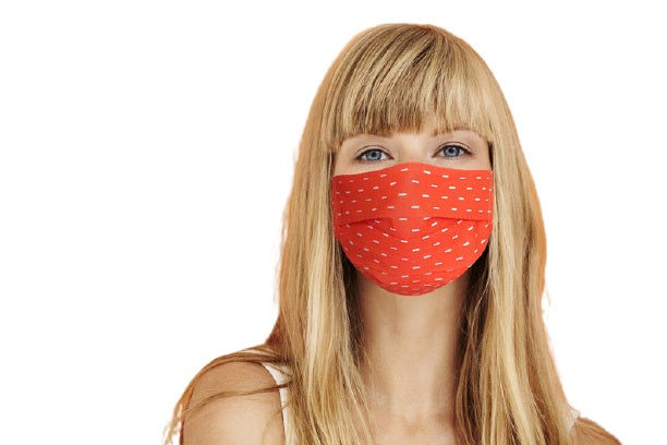 ComfyMasky Premium Cotton Face Mask for Adults - Bright Dash Orange