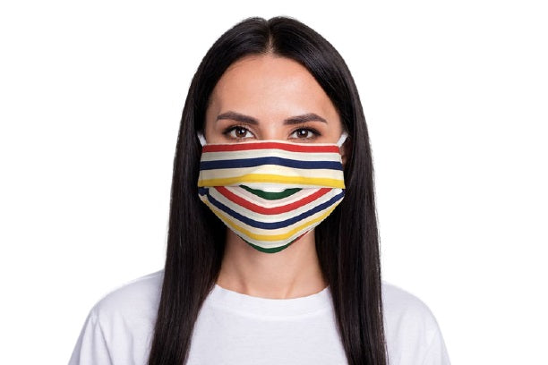 ComfyMasky Premium Cotton Face Mask for Adults - Multicolor lines
