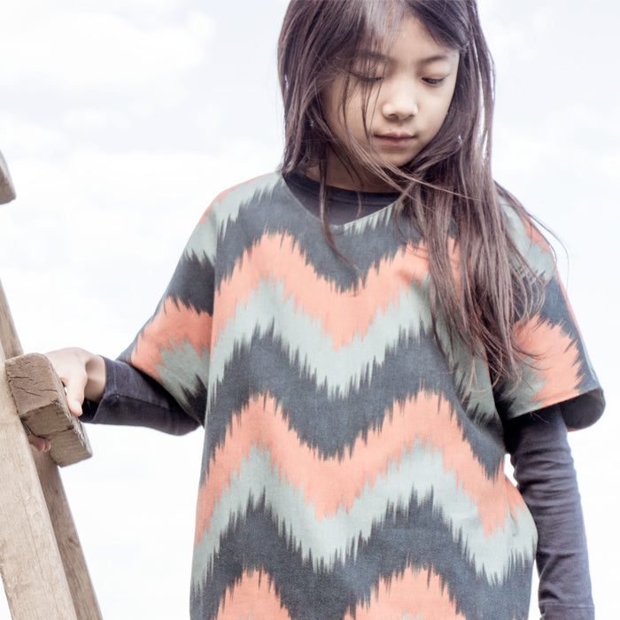 Bobo Choses Ikat Print Kimono Dress