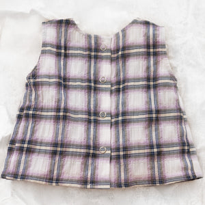 Monamici Checked Norah Top