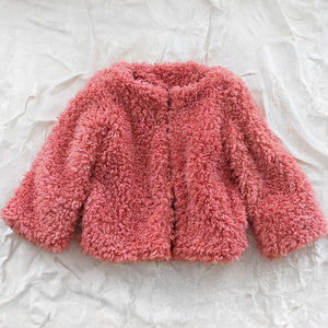 Antena Japan Cropped Faux Fur Jacket