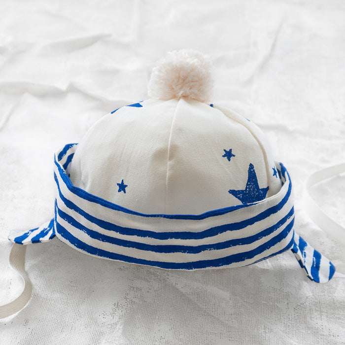 Noé & Zoë Baby Sailor Hat - Blue