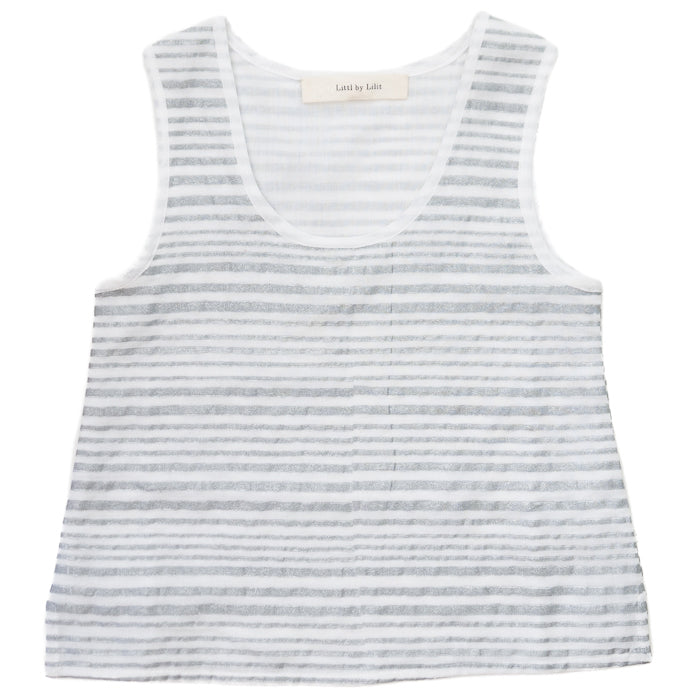 Littl by Lilit Double Layer Tank - Silver