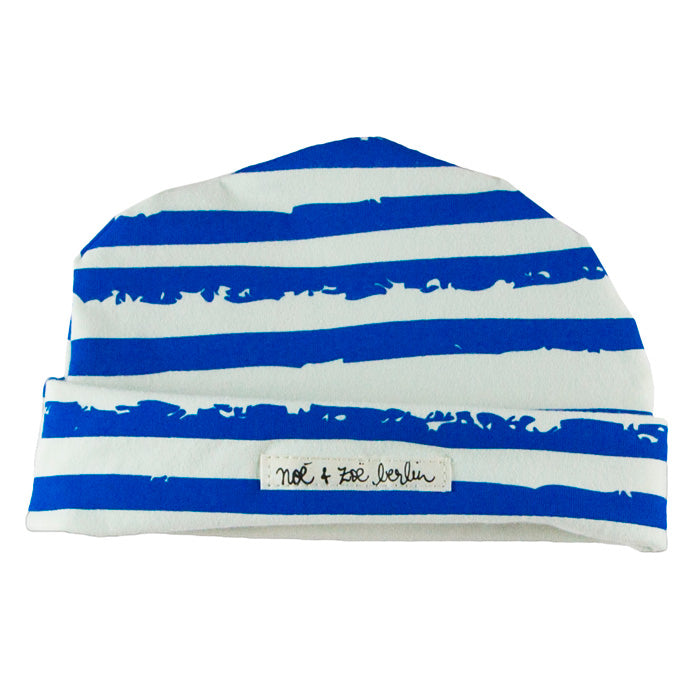 Noé & Zoë Baby Beanie - Blue Stripes