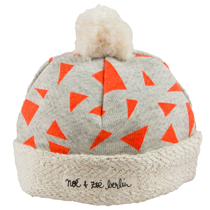 Noé & Zoë Baby Hat - Orange Triangles