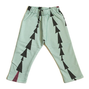 Perfect Days Organic Baby Pants - Green Triangles