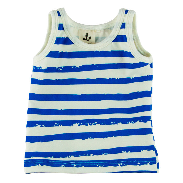Noé & Zoë Baby Tank Top - Blue Stripes
