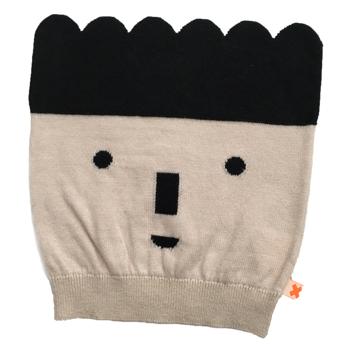Tiny Cottons Big Face Beanie - Natural