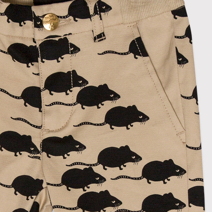Mini Rodini Organic Mouse Baby Chinos