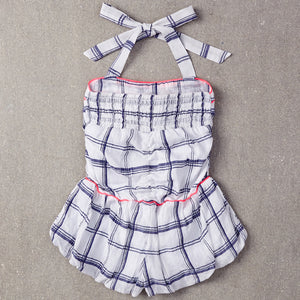 Nellystella Daniella Playsuit - Blue Plaid