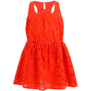 Zimmermann Marisol Eyelet Drawstring Dress