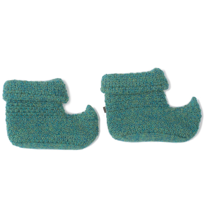 Oeuf Baby Alpaca Elf Booties - Pickle