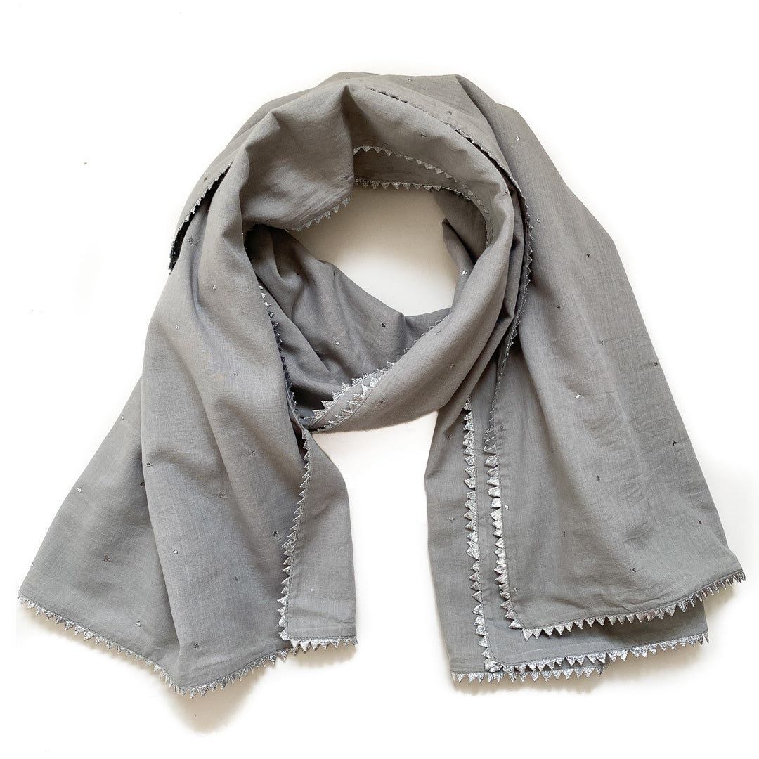 Littl by Lilit Silver Scarf