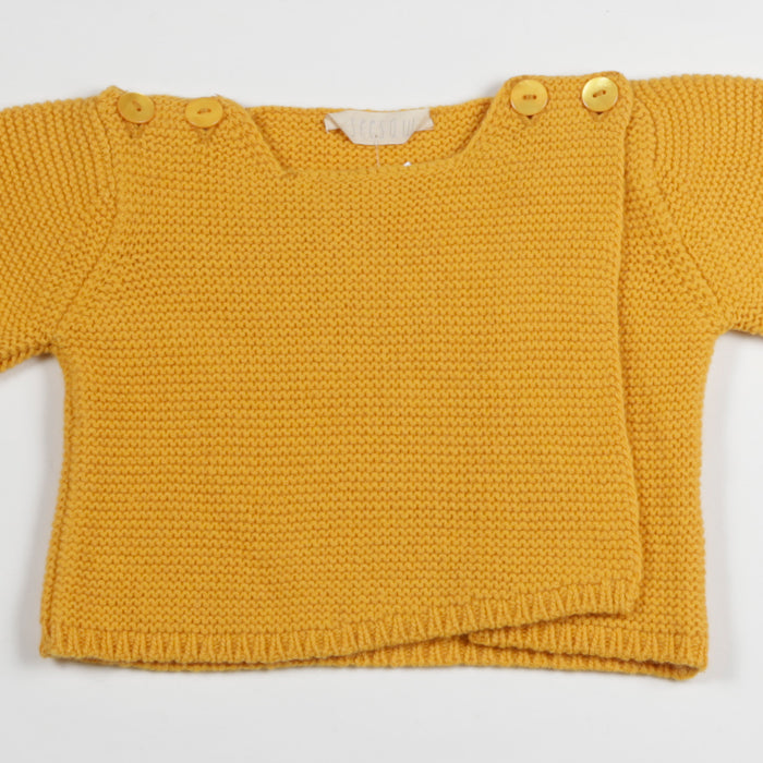 Seesaw Puff Sleeve Baby Sweater