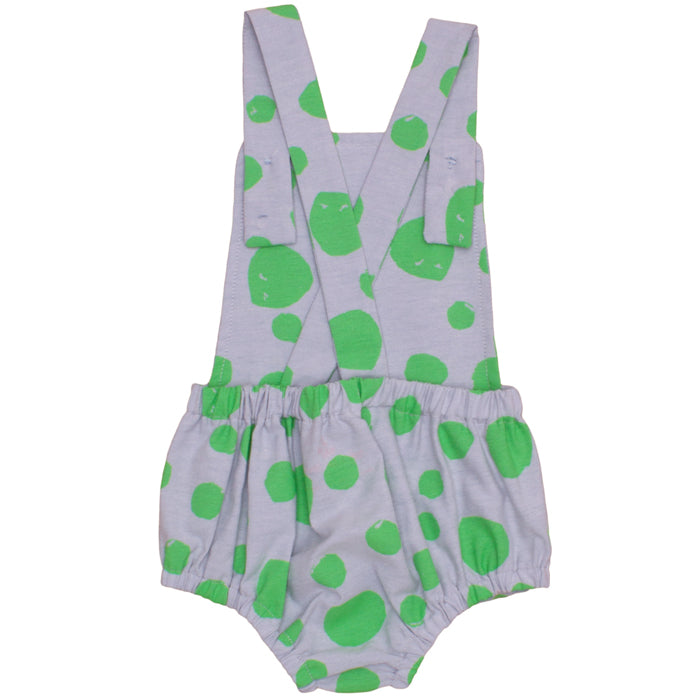 Noé & Zoë Boy's Romper - Green Dots