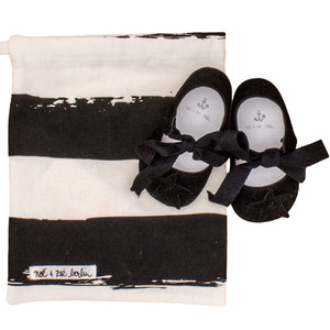 Noé & Zoë Baby Shoes - Black Suede