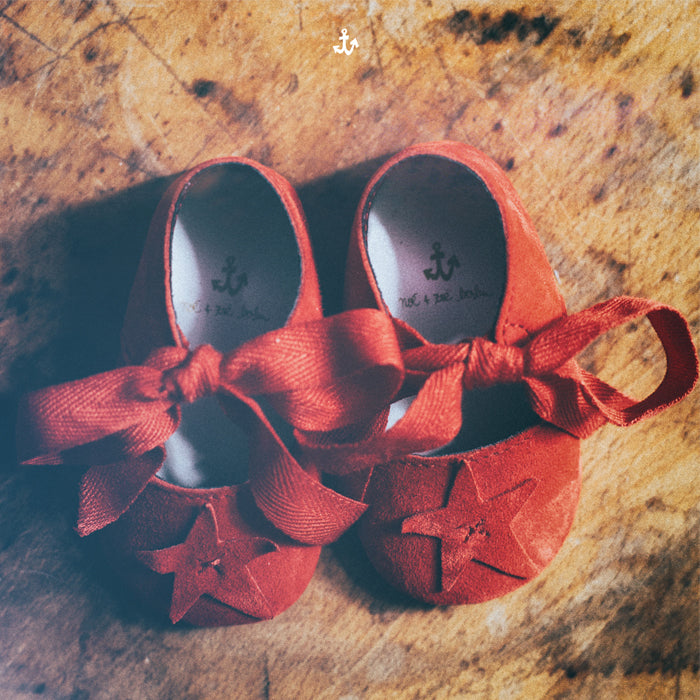 Noé & Zoë Baby Shoes - Coral