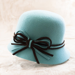 Nathalie Verlinden Wool Cloche Hat - Blue
