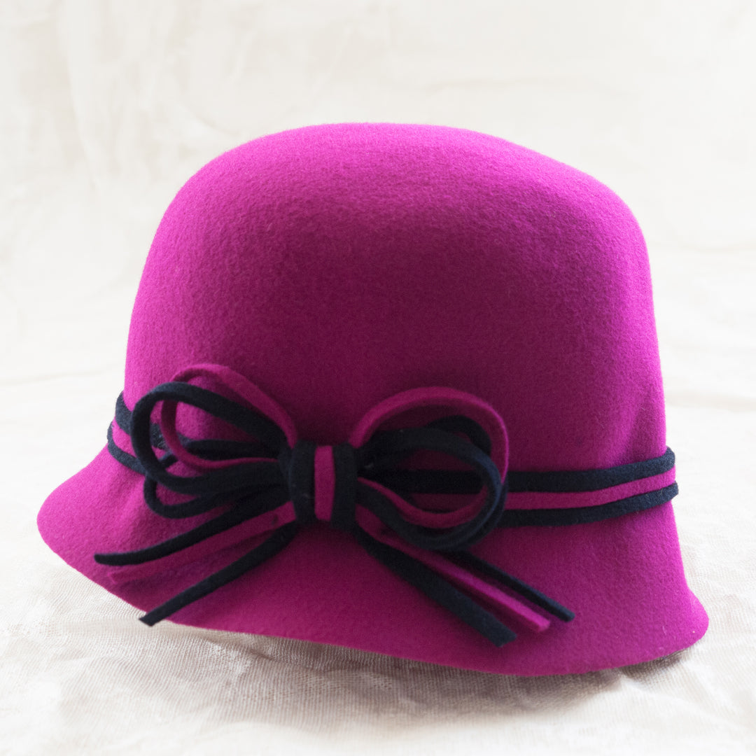 Nathalie Verlinden Wool Cloche Hat - Fuschia